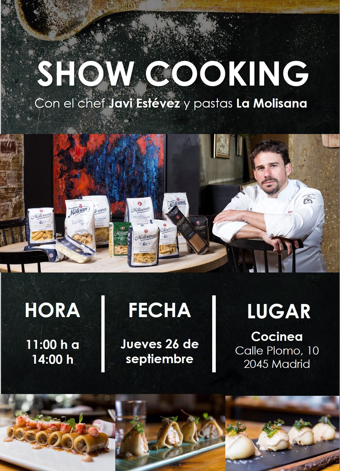 Show Cooking del Chef Javi Estévez con La Molisana